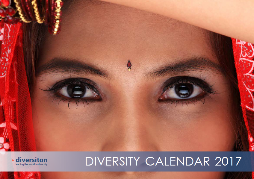 Diversiton's wonderful cover for the 2017 Diversity Calendar